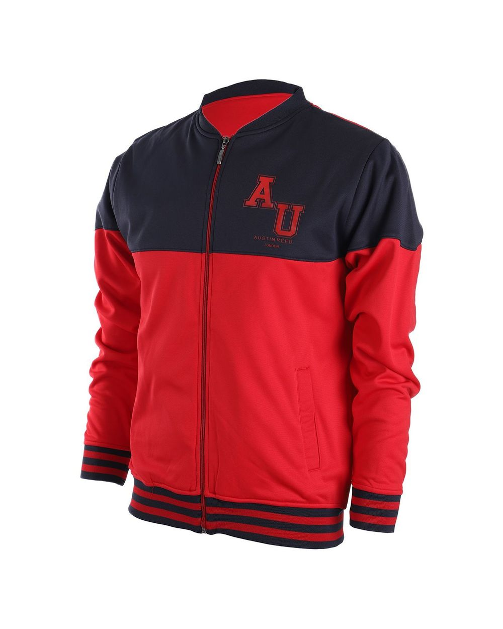 Austin Reed Men Navy Blue Red Colorblocked Track Jacket L Buy Clothing Online Best Price And Offers Ksa Hnak Com