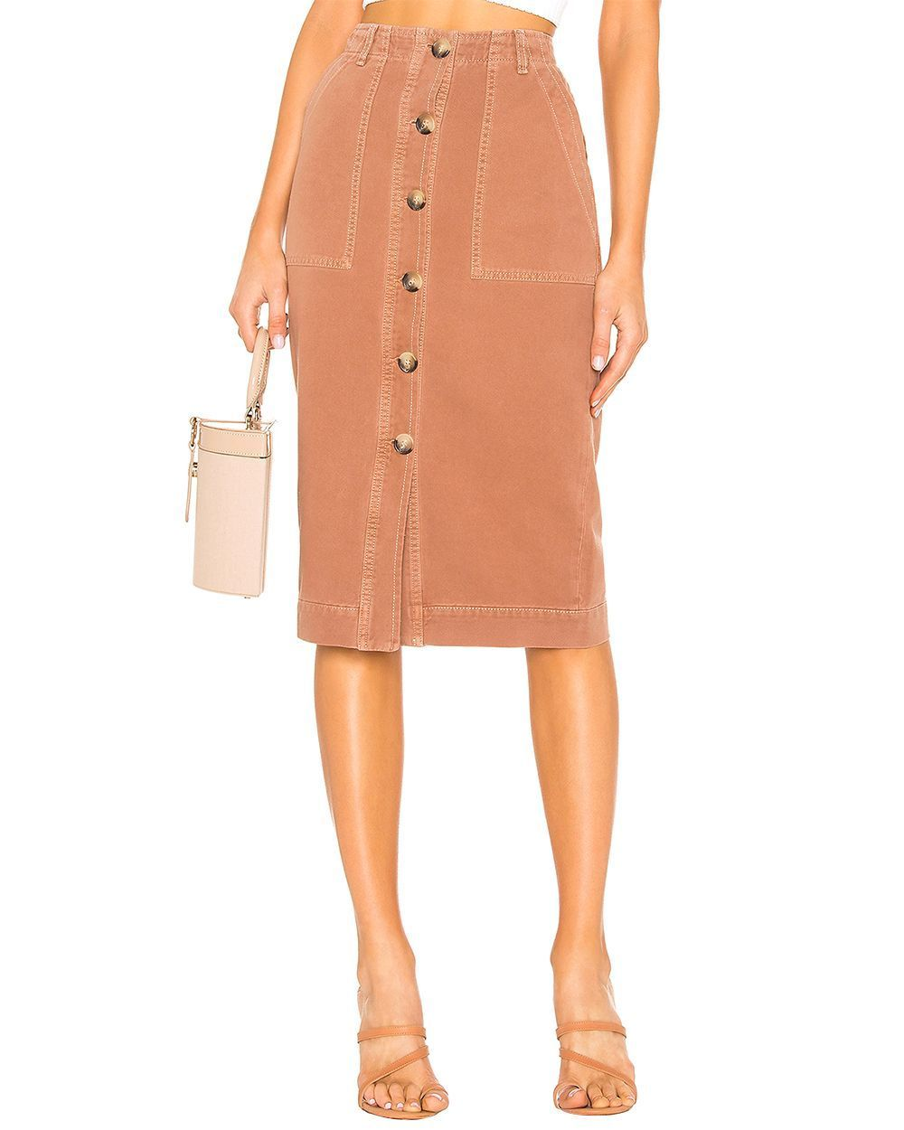 Free People Mid Length Utility Brown Skirt 2 Buy Clothing Online Best Price And Offers Ksa Hnak Com